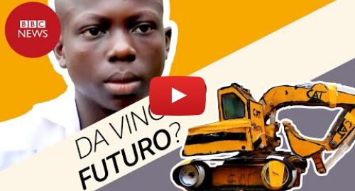 YouTube post de BBC News Brasil: Adolescente cria miniescavadeira usando seringas e restos de notebook