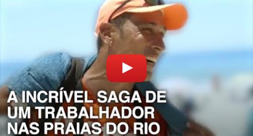 YouTube post de BBC News Brasil: A emocionante história de um trabalhador que 'vive da praia' com 50 kg nas costas sob sol de 40º