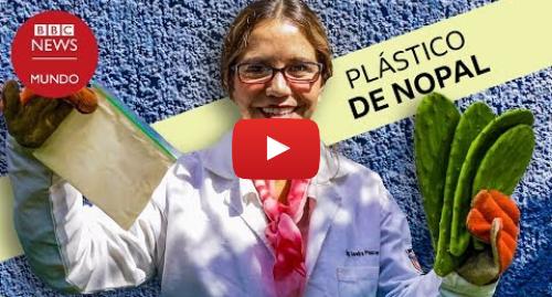 Publicación de Youtube por BBC News Mundo: La mexicana que hace plástico biodegradable con hojas de nopal