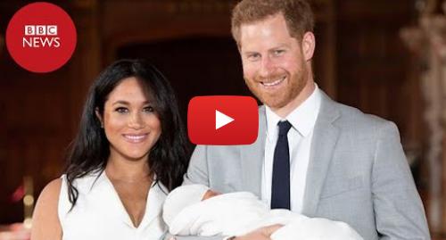 YouTube post de BBC News Brasil: Bebê real  veja as primeiras imagens de Meghan e Harry com o recém nascido