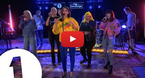 Youtube post by BBC Radio 1: Dua Lipa - IDGAF ft. Charli XCX, Zara Larsson, MØ, Alma, in the Live Lounge