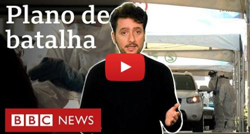 YouTube post de BBC News Brasil: Drive-thru de exames e contêiner de atendimento  o plano dos britânicos contra o coronavírus