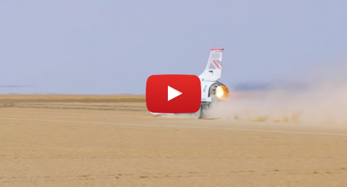 Youtube post by Bloodhound LSR: Nearly reaching the 500mph milestone! | #2019HST