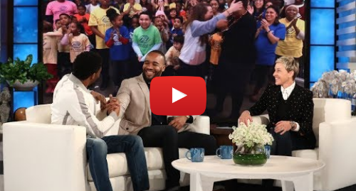 Youtube post by TheEllenShow: Chadwick Boseman and Ellen Surprise 'Black Panther' Fundraiser Frederick Joseph