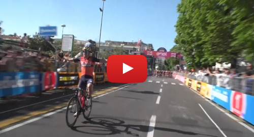 Youtube post by Guardian Sport: Cyclist celebrates Giro d'Italia 'stage win' one lap early – video