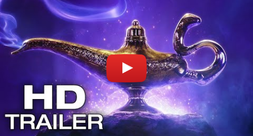Youtube post by We Got This Covered: ALADDIN Official Trailer #1 [HD] Billy Magnussen, Will Smith, Naomi Scott