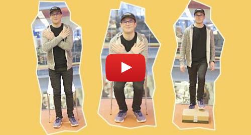 Publicación de Youtube por BBC News Mundo: 2 simples ejercicios para saber si estás en forma