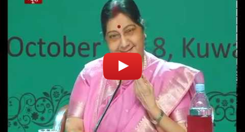 Youtube post by DD News: EAM Sushma Swaraj interacts with Indian community members in Kuwait