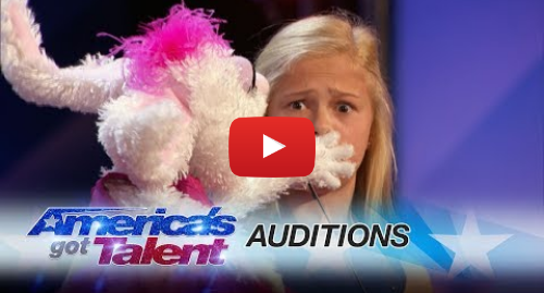 Youtube post by America's Got Talent: Darci Lynne  12-Year-Old Singing Ventriloquist Gets Golden Buzzer - America's Got Talent 2017