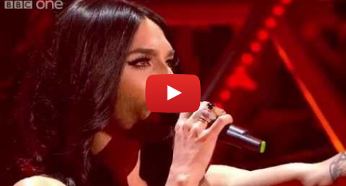 Youtube post by BBC: Austria's Conchita Wurst performs 'Rise Like a Phoenix' - Eurovision's Greatest Hits - BBC One