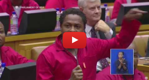 Youtube post by Eyewitness News: The EFF is ejected from Parliament. Here's what led up to the drama.