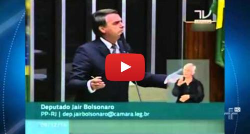 Publicación de Youtube por Jornalismo TV Cultura: Bolsonaro repete ofensa à deputada Maria do Rosário - 09/12/2014