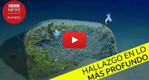 Publicación de Youtube por BBC News Mundo: Las imágenes del hallazgo de Víctor Vescovo, récord de la inmersión más profunda