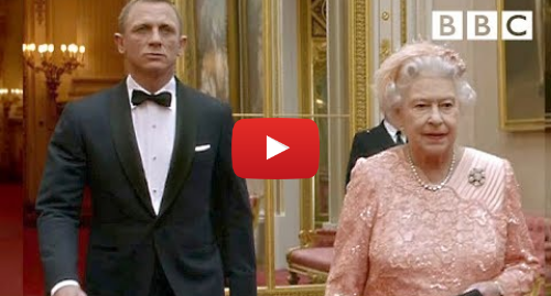 Youtube post by BBC: James Bond escorts The Queen to the opening ceremony | London 2012 Olympic Games - BBC