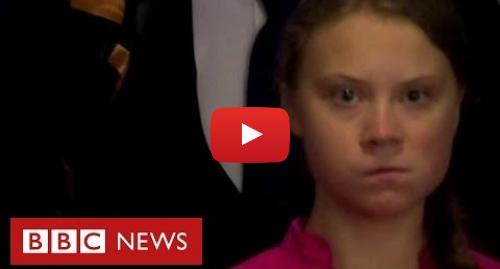 YouTube post de BBC News Brasil: O momento em que Greta Thunberg se enfurece ao ver Trump em evento na ONU