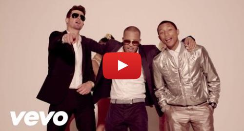 Youtube пост, автор: RobinThickeVEVO: Robin Thicke - Blurred Lines ft. T.I., Pharrell