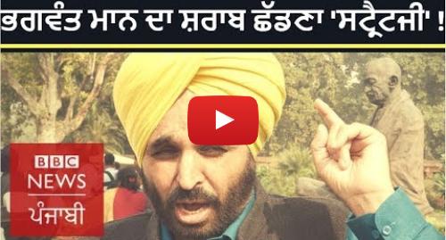Youtube post by BBC News Punjabi: Bhagwant Mann quits liquor  Is it AAP strategy in Punjab for Lok Sabha polls?   BBC NEWS PUNJABI