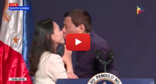 Youtube post by Rappler: Duterte kisses OFW based in South Korea