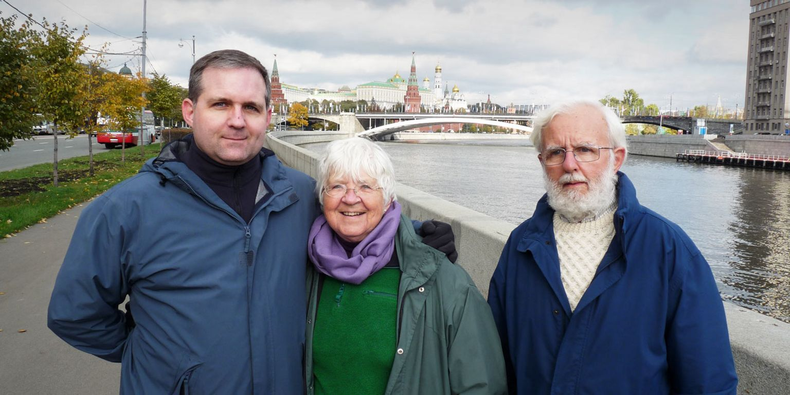 Paul Whelan with his parents in Moscow