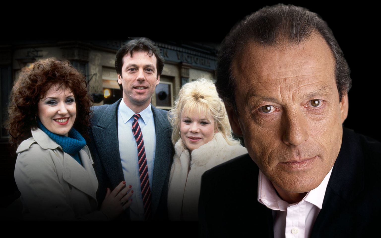 Leslie Grantham - with Anita Dobson and Letitia Dean
