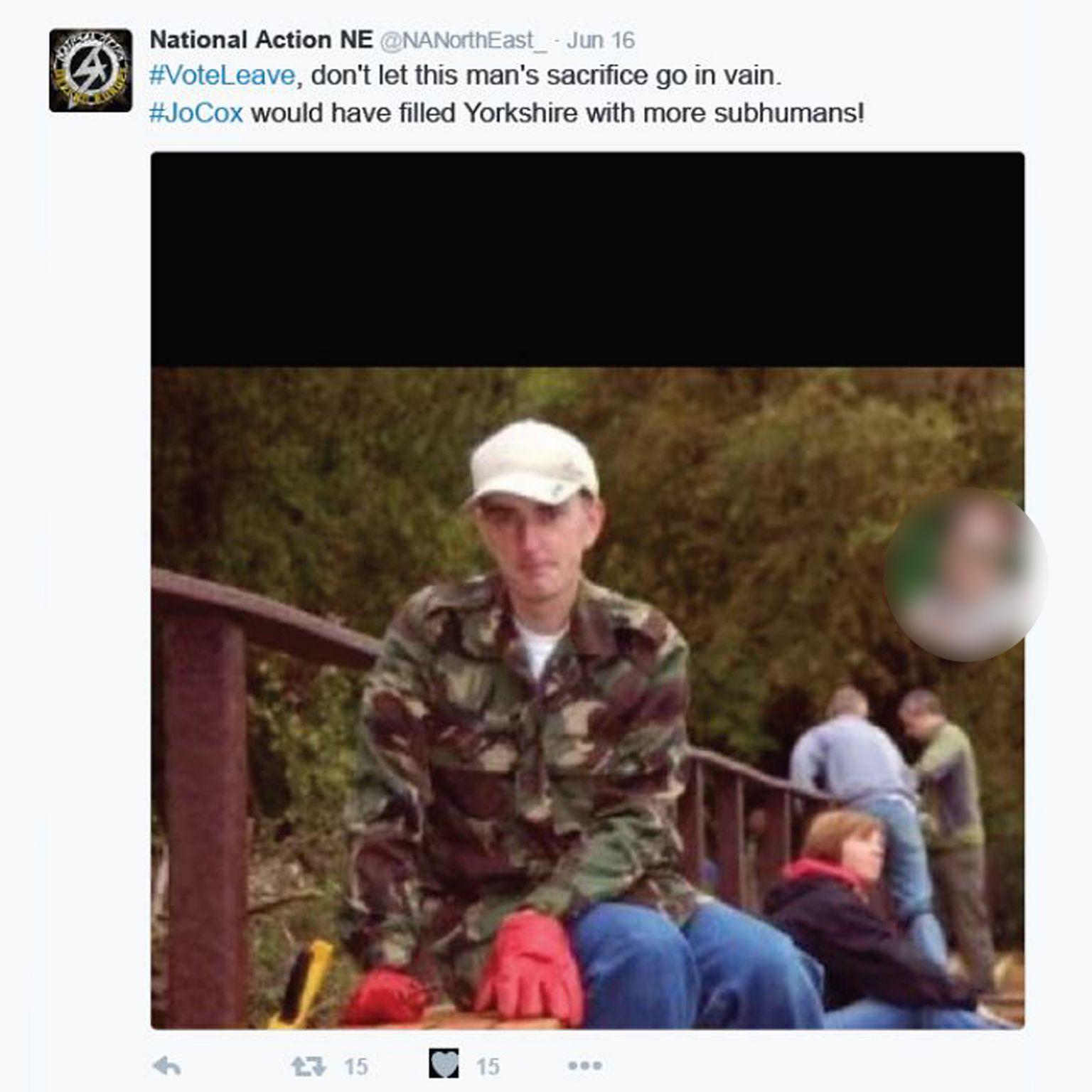 National Action tweet
