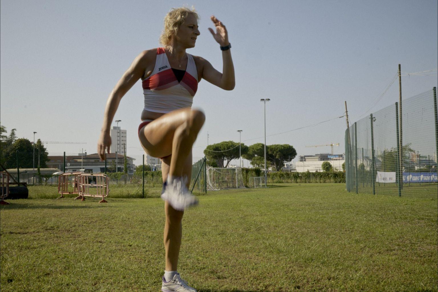 Valentina Petrillo training