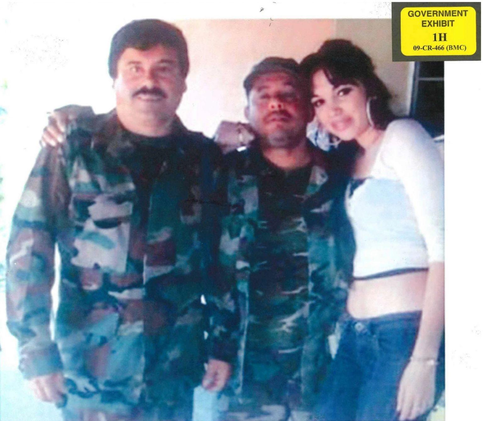 El Chapo with his former personal assistant. Alex Cifuentes Villa, and Villa's girlfriend