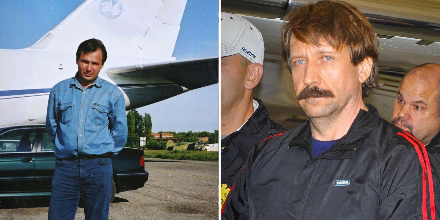 Undated photo of Konstantin Yaroshenko (left) and Viktor Bout in 2010