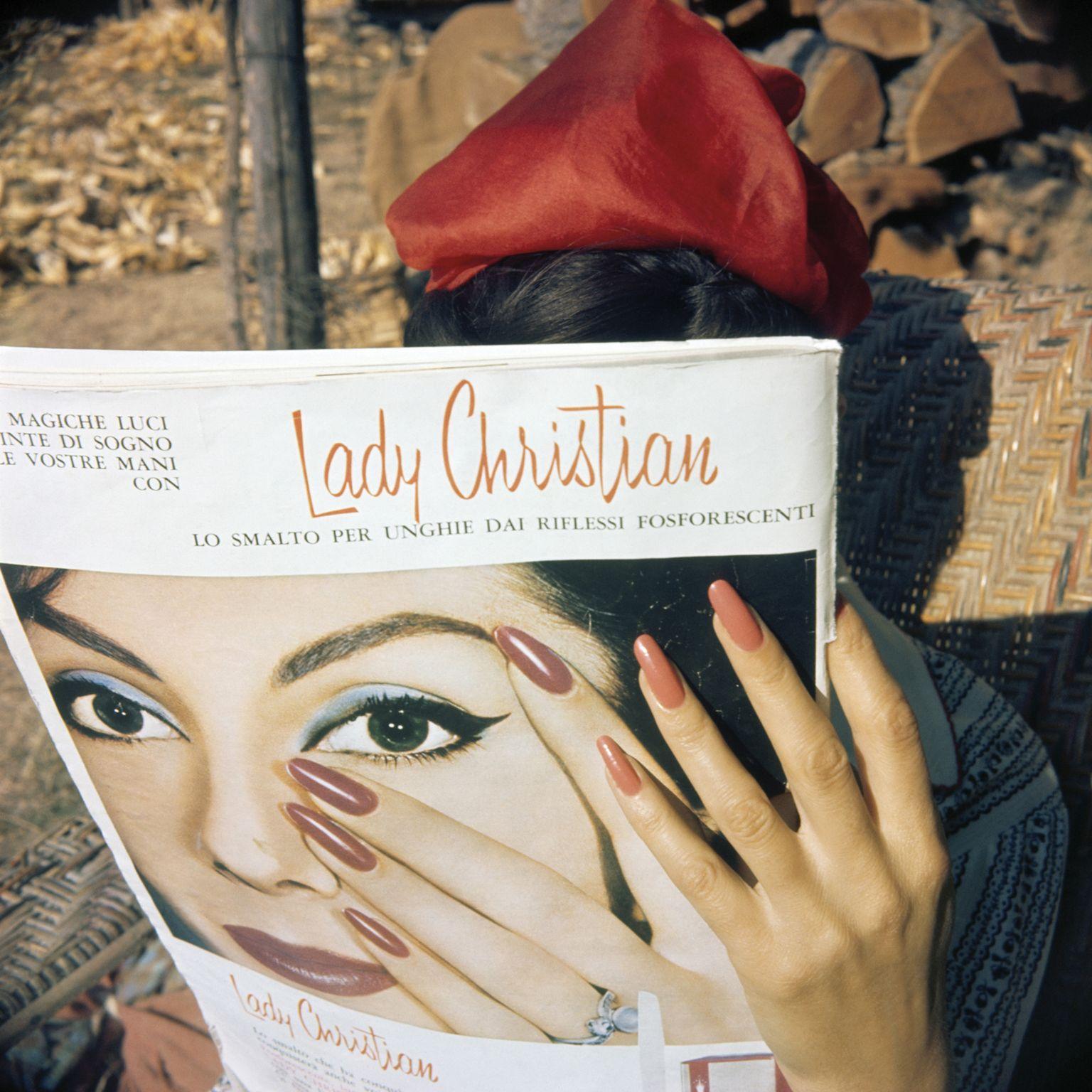 Florette's hands, Brie-le-Nellier, June 1961