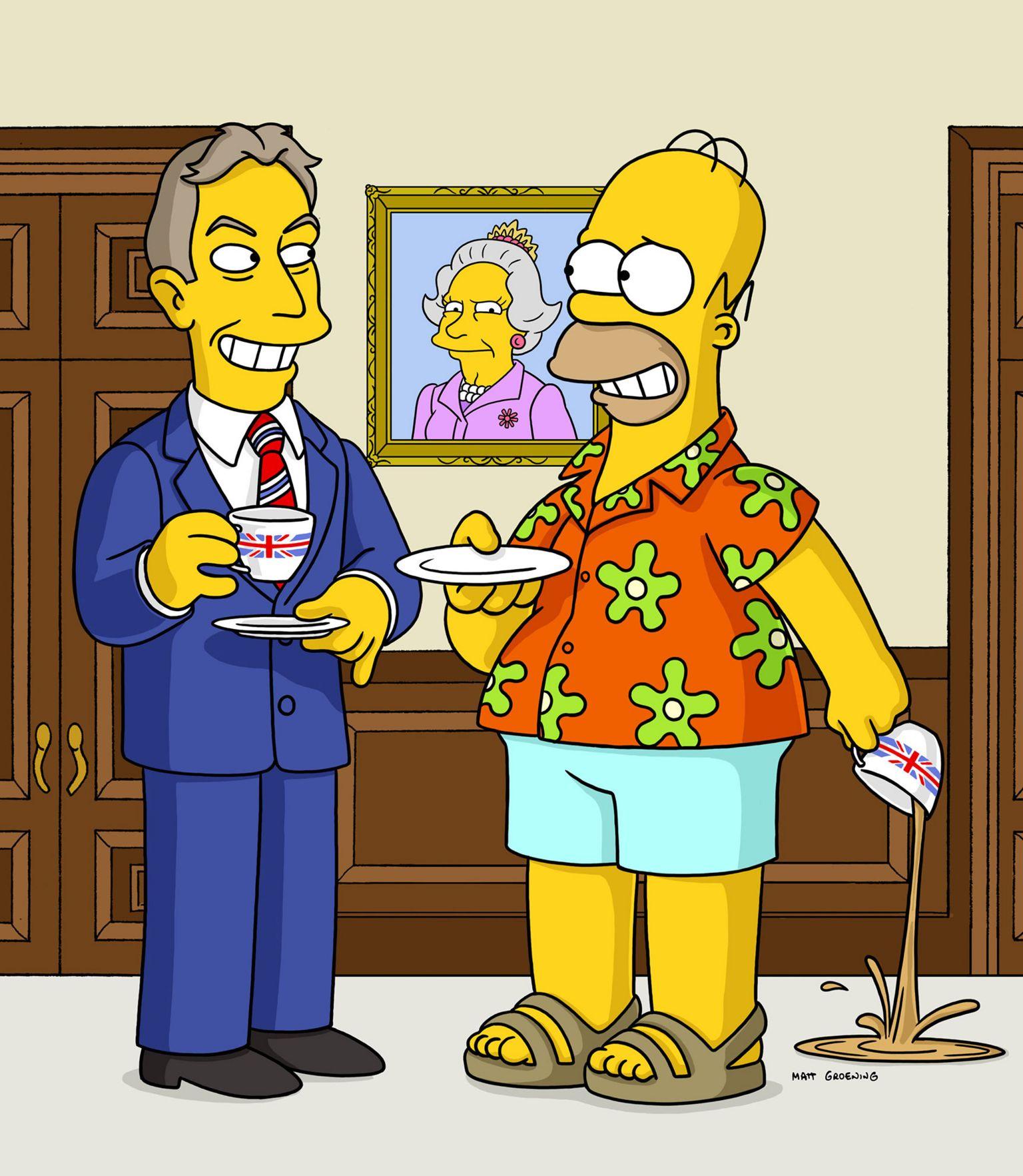 Tony Blair and Homer Simpson