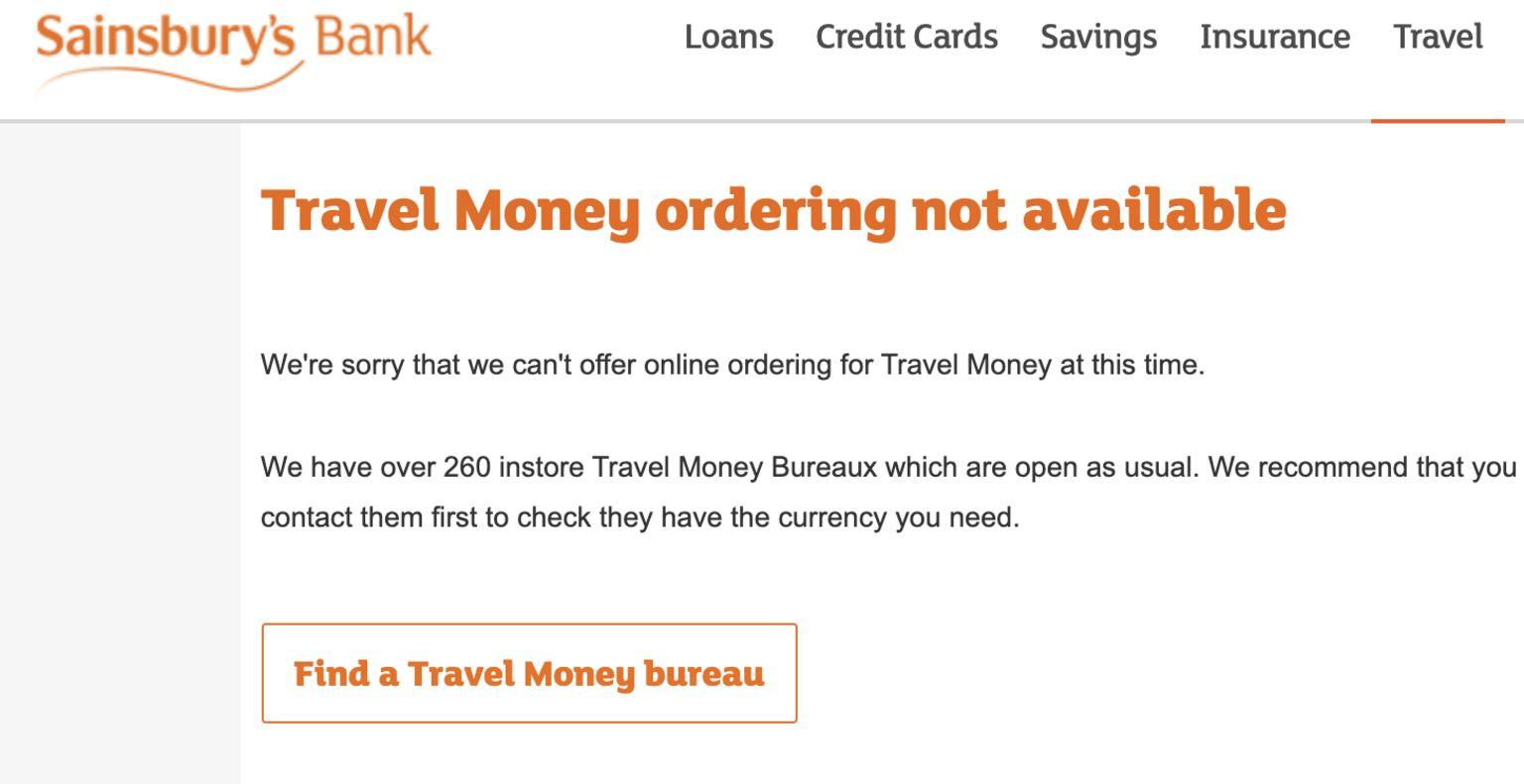 Screenshot of Sainsbury's Bank's statement