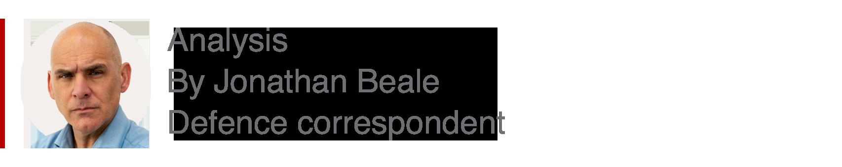 Analysis box by Jonathan Beale, defence correspondent