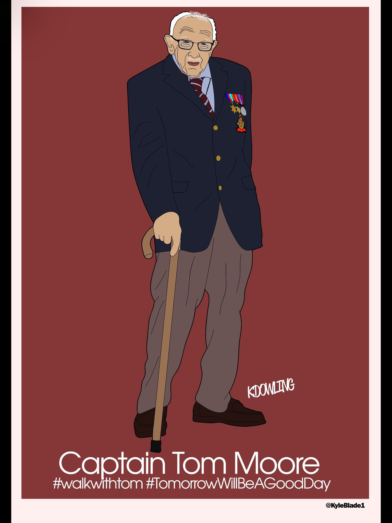 Kyle Dowling's graphic of Capt Tom Moore