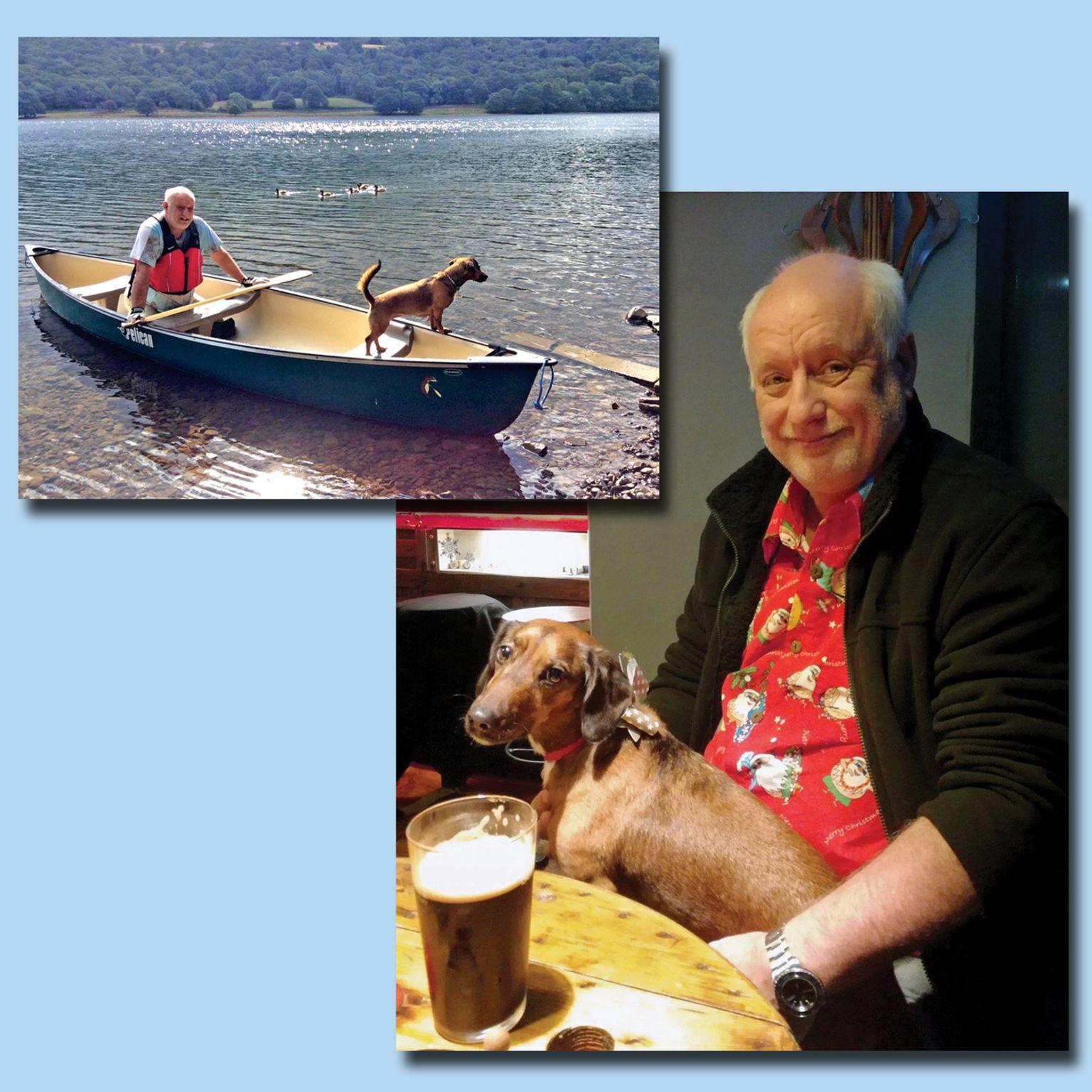 Harry with Daisy the dachshund