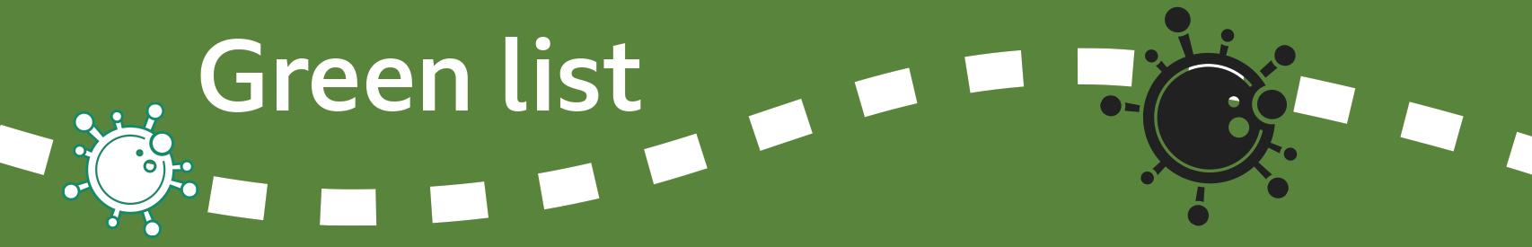 Banner de lista verde