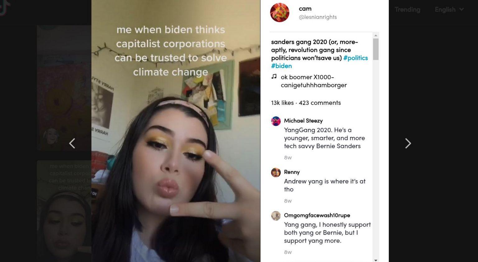 TikTok screengrab of a OK Boomer post