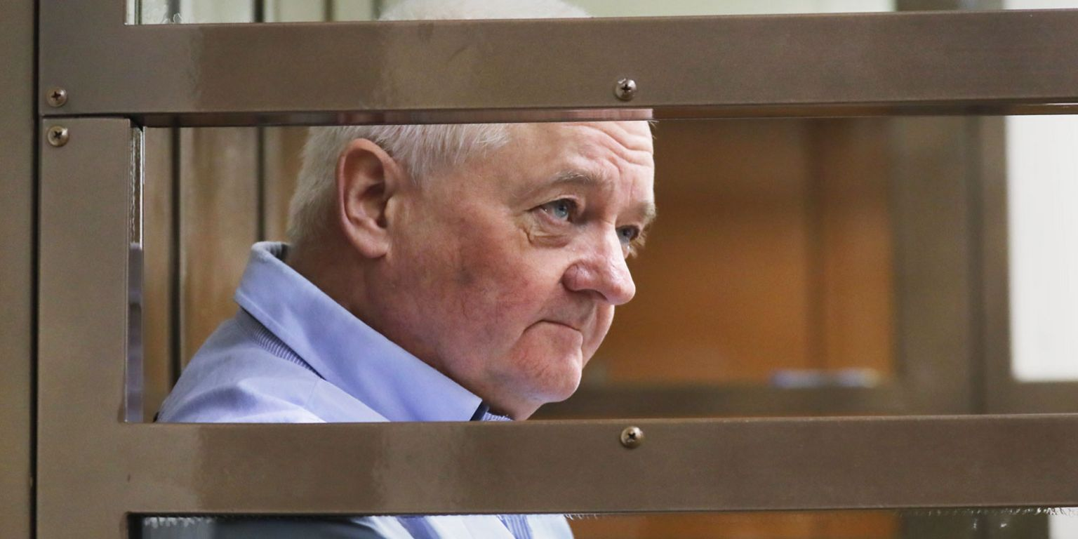 Norwegian citizen Frode Berg in a Moscow courtroom, January 2019