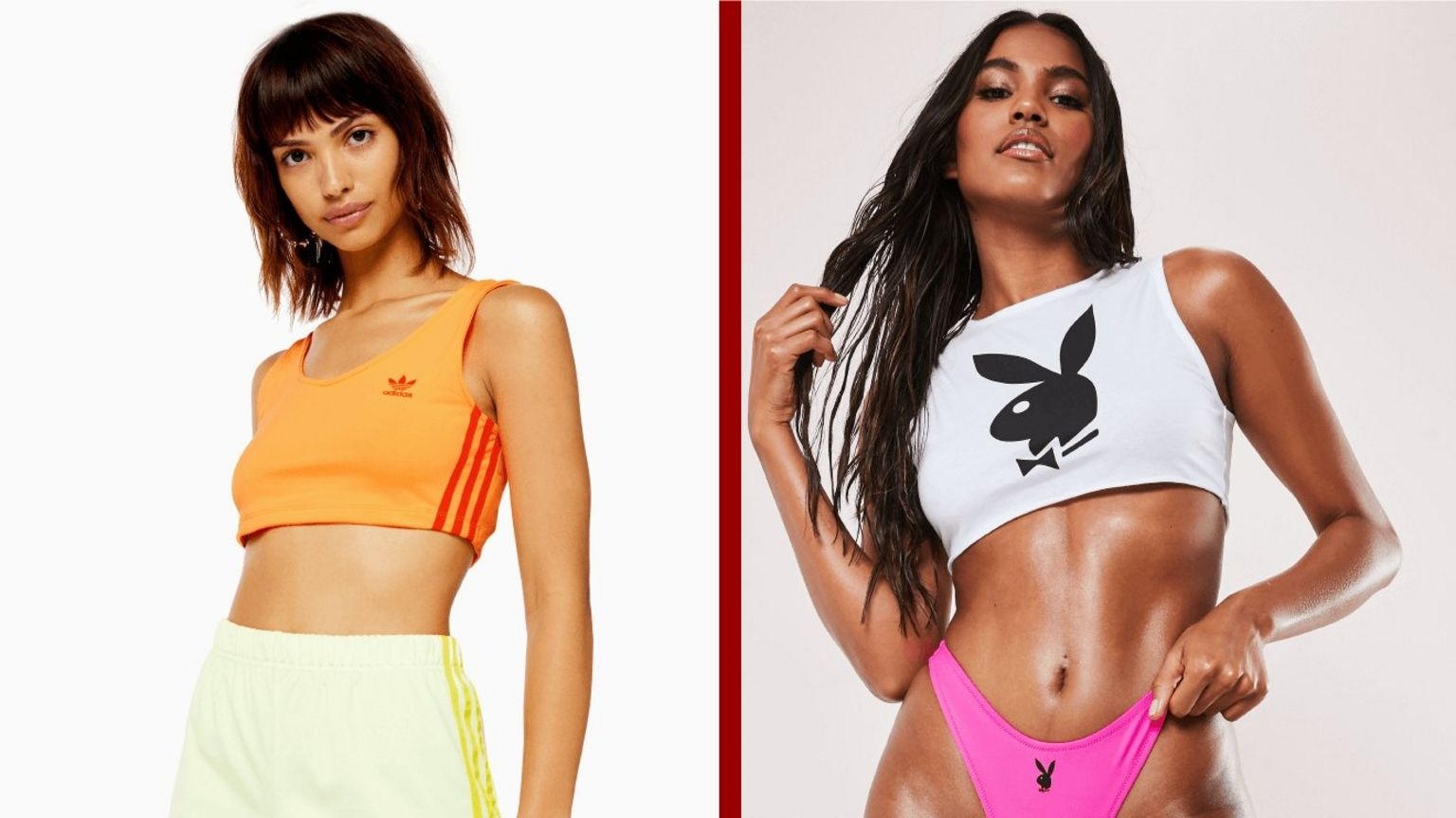Topshop model (left), Missguided model (right)