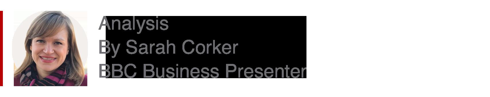 Analysis box by Sarah Corker, Business presenter