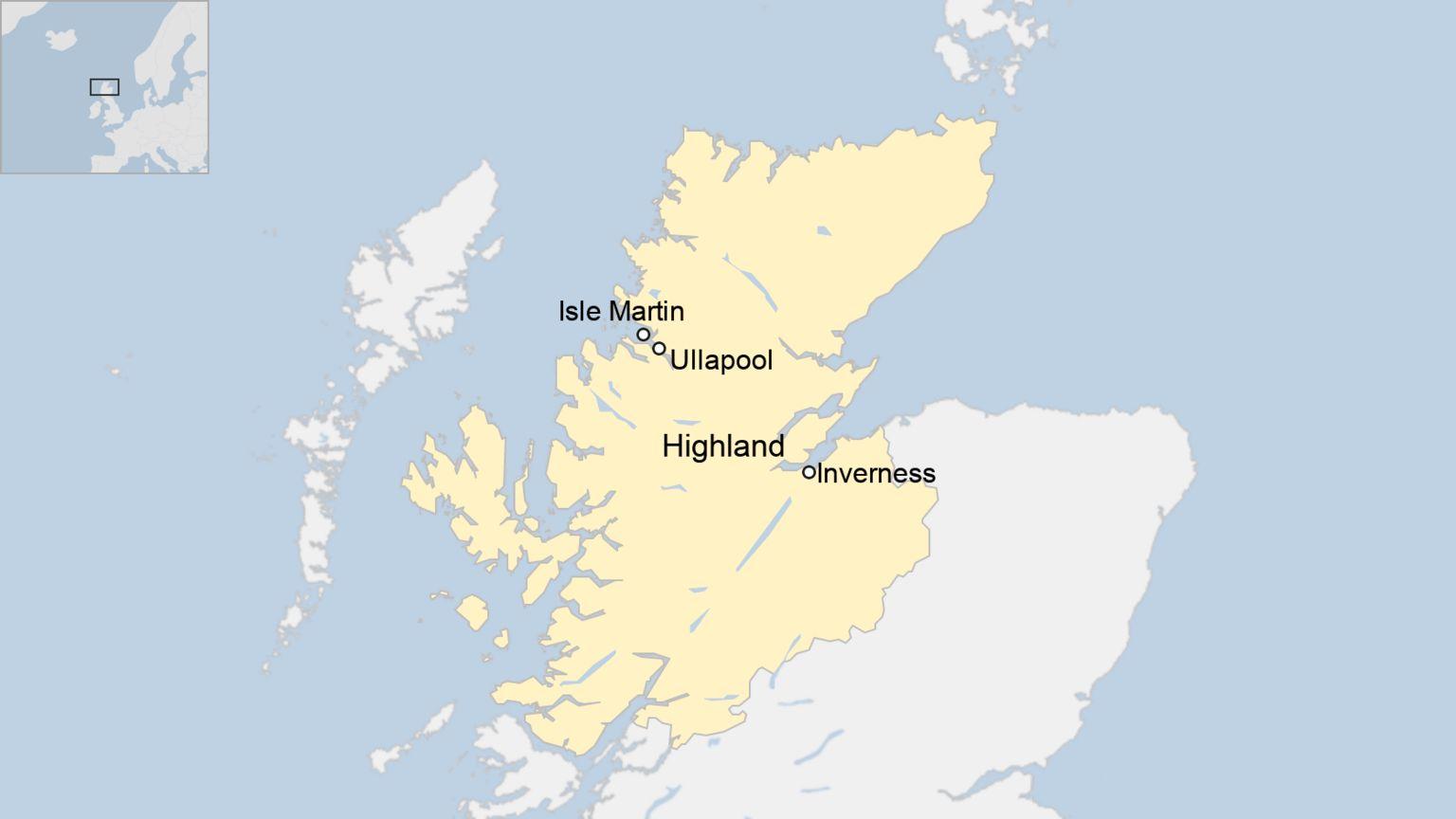 Isle Martin map