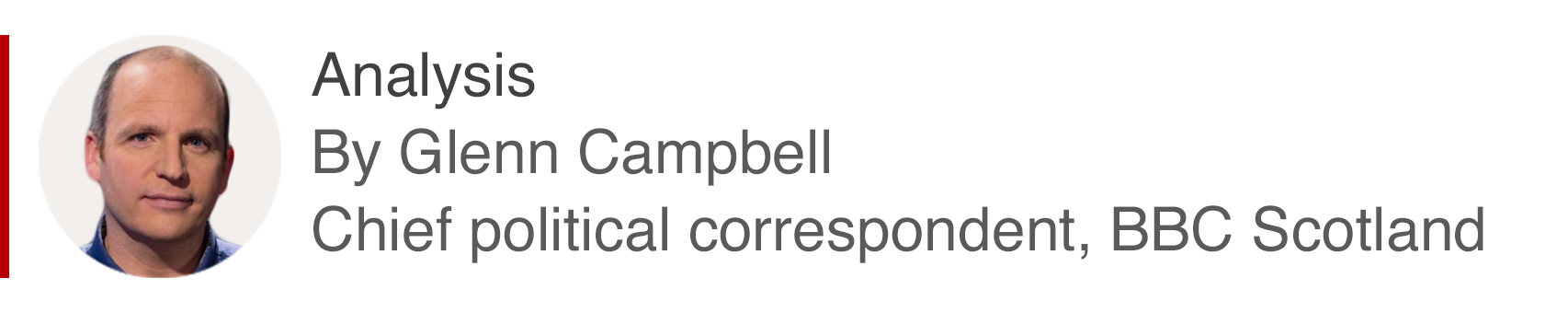 Analysis box by Glenn Campbell, Chief political correspondent, BBC Scotland