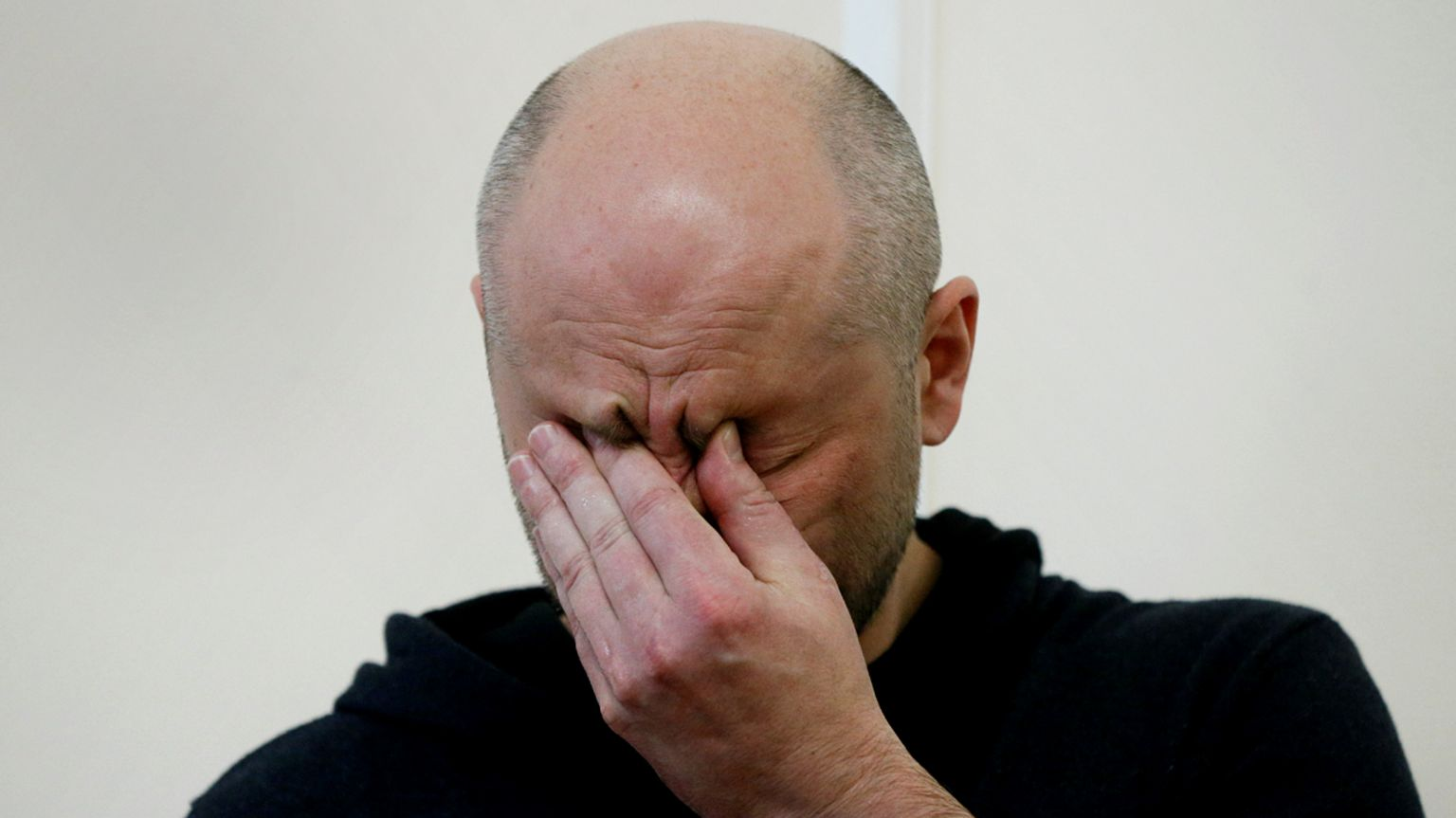 Arkady Babchenko at his news conference