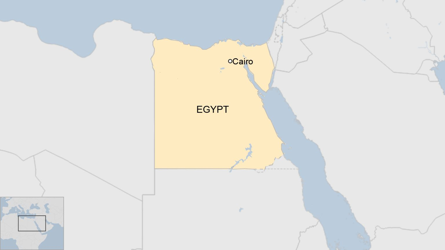 A BBC map showing where Egypt is