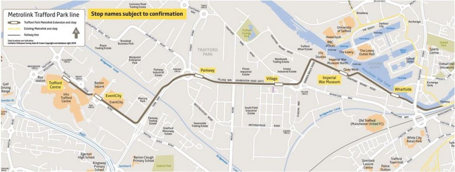 Route for new tramline