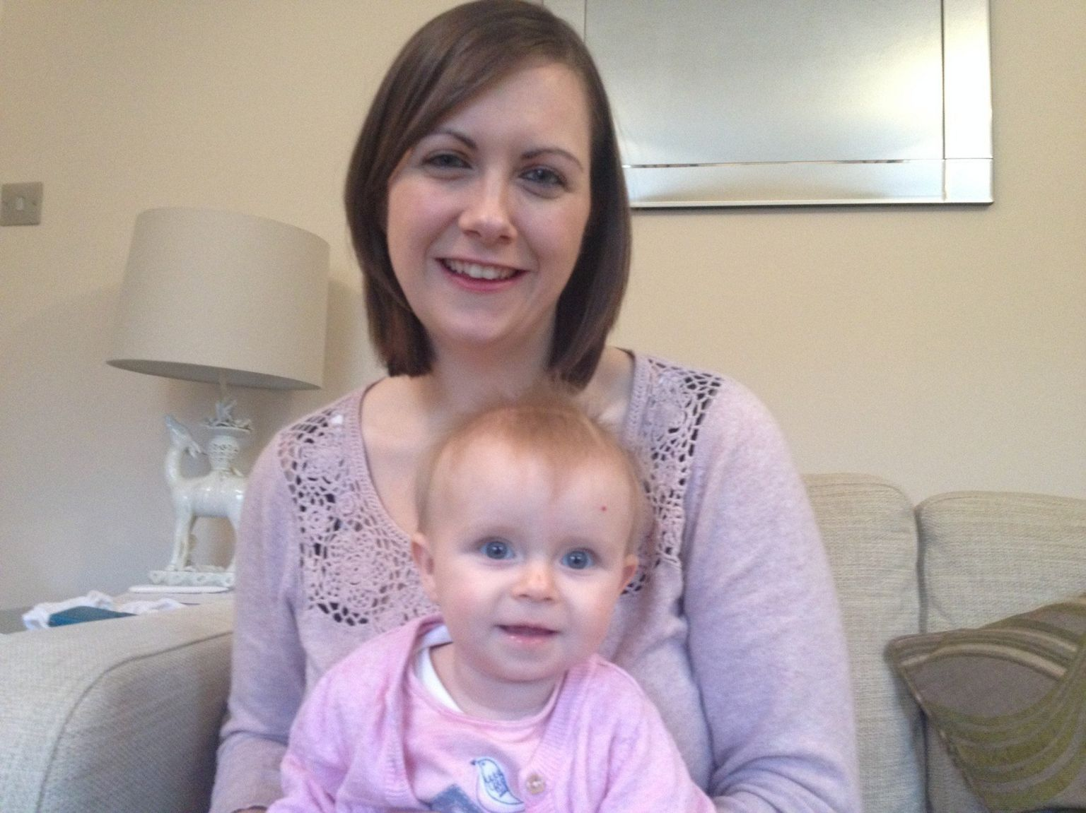 Sarah McHugh and her daughter Harriet