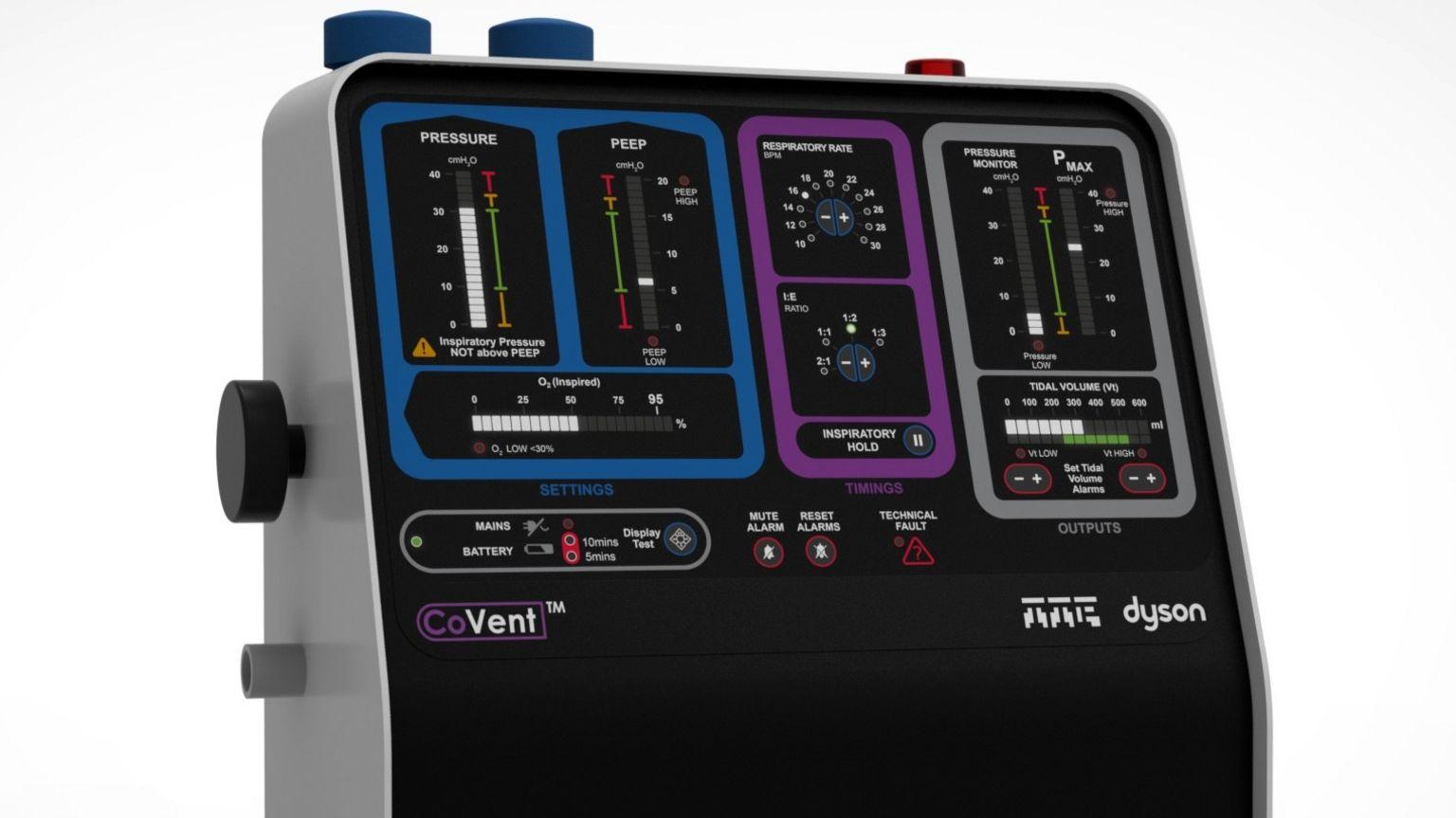 Dyson's prototype ventilator