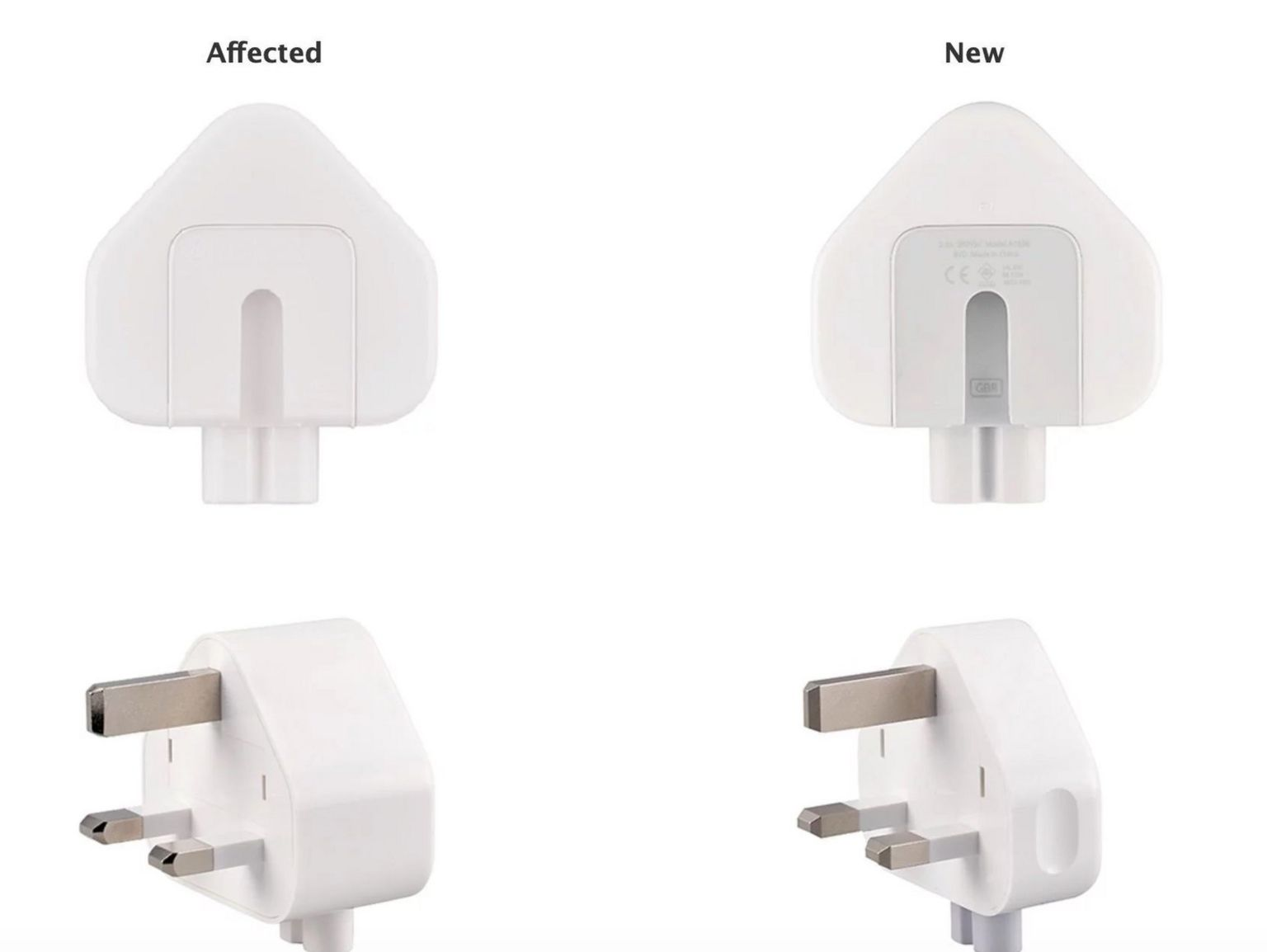 Graphic showing affected plugs