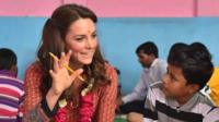 Duchess of Cambridge meeting street children