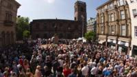 Crowd at St Ann's Square