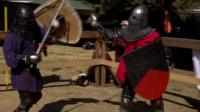 Medieval martial arts battle